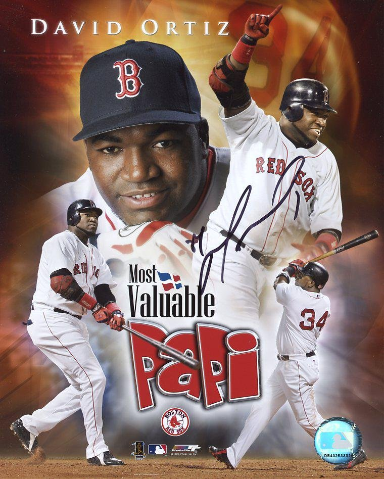 David Ortiz RED SOX Signed 8x10 Photo
