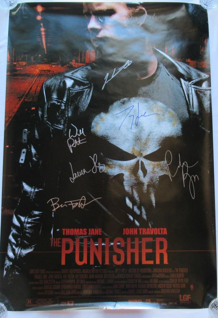THE PUNISHER Cast Signed Movie Poster