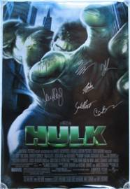 THE HULK Cast Signed Movie Poster