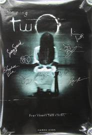 THE RING 2 Cast Signed Movie Poster