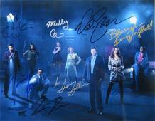 CASTLE 11x14 Full Cast Signed by 8 In Person Signed