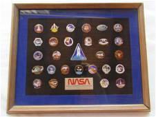 NASA Astronaut Crew Insignias Pin Set