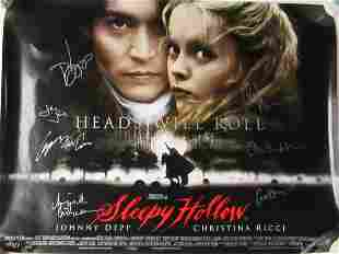 Sleepy Hollow Cast Signed Double Sided Movie Poster