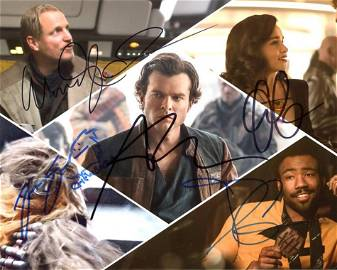 Solo a Star Wars Story Cast Signed Photo