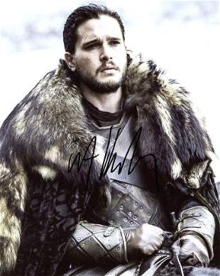 Kit Harington GAME OF THRONES Signed Photo