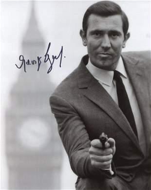 George Lazenby JAMES BOND Signed Photo