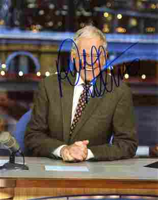 David Letterman TALKSHOW HOST LEGEND Signed Photo
