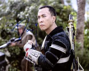 Donnie Yen STAR WARS ROGUE ONE In Person Signed Photo