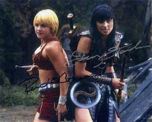 Lucy Lawless / Renée O'Connor XENA In Person Signed