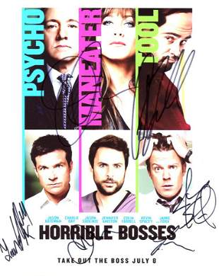 Horrible Bosses In Person Cast Signed Photo by 6
