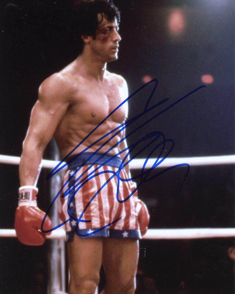 Sylvester Stallone ROCKY 2 Signed Photo