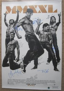 Magic Mike Cast Signed Movie Poster Signed by 12 !!!