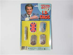 Vintage 1984 James Bond 007 I.D. TAGS Imperial Toy