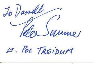 (RARE SIGNATURE) Peter Sumner In Person Signed Index