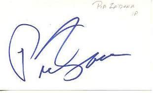 Pia Zadora In Person Signed Index Card