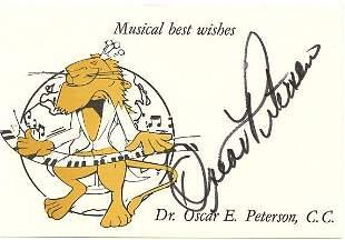 Oscar E Peterson JAZZ PIANIST Signed Card