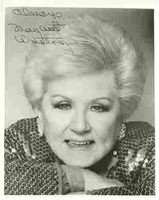 Margret Whiting SINGER Signed Photo