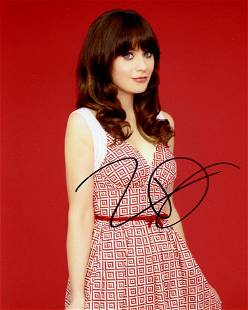 Zooey Deschanel In Person Signed Photo