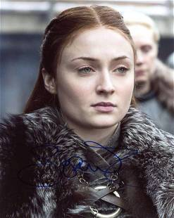 Sophie Turner GAME OF THRONES In Person Signed Photo