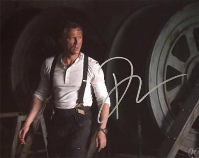 Daniel Craig NO TIME TO DIE In Person Signed Photo