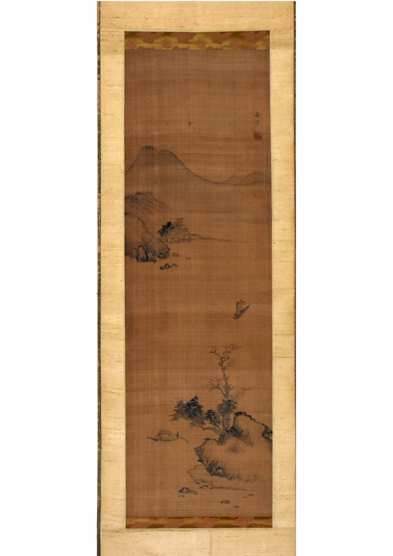 A CHINESE SILK SCROLL PAINTING, ATTRIBUTED TO CHEN JIA