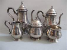 Sterling Silver Coffee & Tea Set