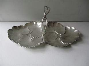 Sterling Reed & Barton Sectional Double Leaf Dish