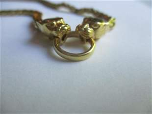 """14K Italy Leopard Necklace 18"""""""