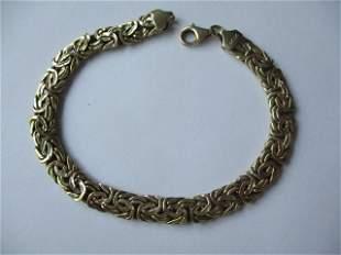 """14K 7 3/4"""" Bracelet - Byzantine"""