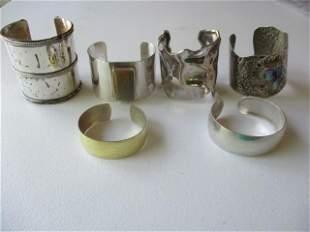 6 - Cuff Sterling Silver & Other Cuff Bracelets