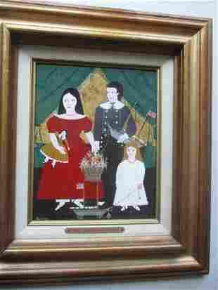 """Rosebee 1985 """"Sea Captains Children"""" Oil on Artist"""