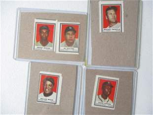1962 Topps Mantle, Mays, Aaron, Banks + Stamps