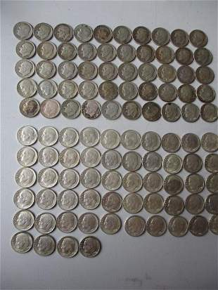 104 Roosevelt Silve Dimes 54 Higher Grade and