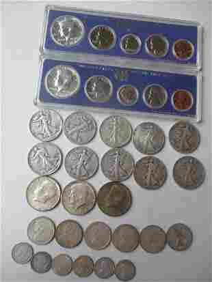 10 Walking Liberty Half Dollars, 3 - 1964 Kennedy