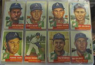 Topps 1953 Baseball Complete Set sorted by teams