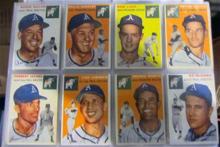 1954 Topps Baseball Complete Set sorted by teams