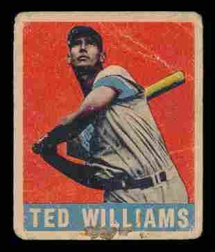 1948 Leaf Baseball #76 Ted Williams Poor