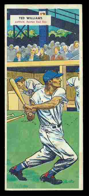 1955 Topps Double Header #69/70 Ted Williams Ex