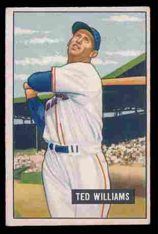 1951 Bowman Baseball #165 Ted Williams Vg