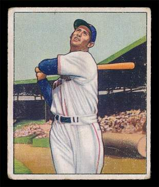 1950 Bowman Baseball #98 Ted Williams Vg