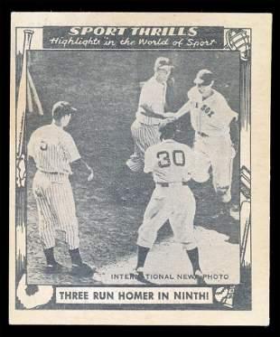 1948 Sport Thrills #16 Ted Williams Ex++