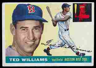 1955 & 1956 Topps Ted Williams Cards