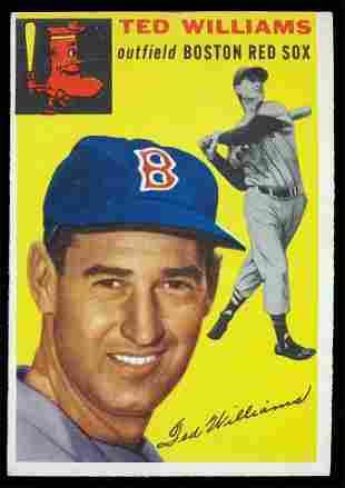 1954 Topps Baseball #250 Ted Williams Vg