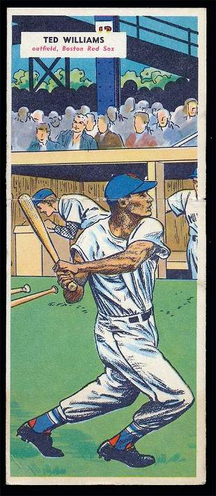 1955 Topps Double Header #69/70 Ted Williams Vg