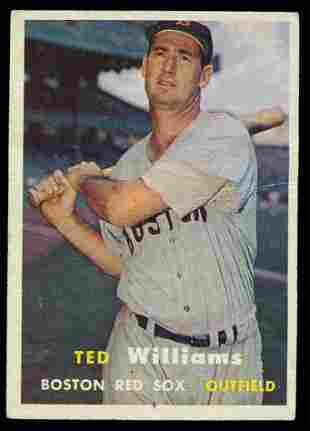 1957 Topps Baseball #1 Ted Williams Vg