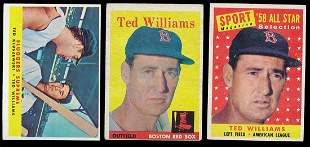 (3) 1958 Topps Baseball Ted Williams Cards