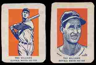 1952 Wheaties Baseball (2) Ted Williams Cards