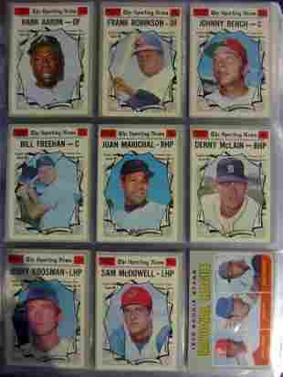1970 Topps Baseball Complete Set sorted by teams