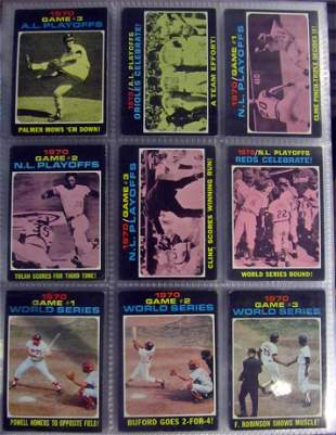 1971 Topps Baseball Complete Set sorted by teams