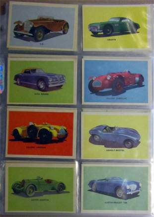 1953 Oak Manufacturing Automobiles Complete Set